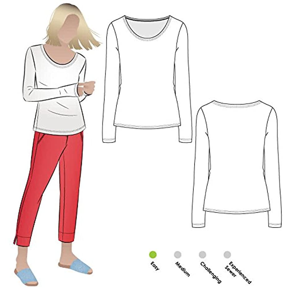 Style Arc Sewing Pattern - Susan Knit Top (Sizes 18-30) - Click for Other Sizes Available