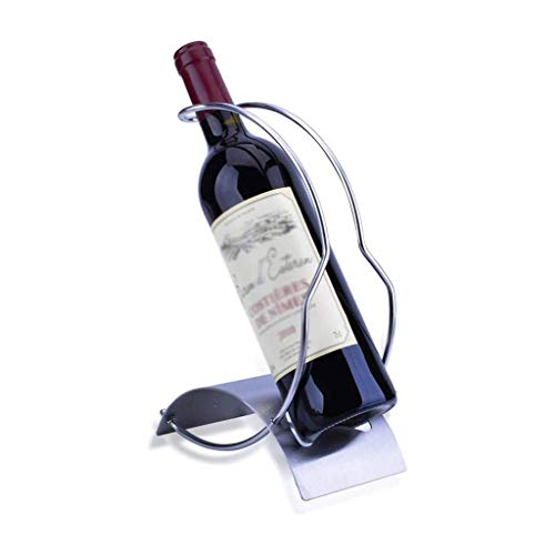 Estante para vino de pie Titular de almacenamiento sencillo de vinos vino del acero inoxidable del estante de la personalidad principal restaurante de la cocina estante del vino encimera Gabinete Bode