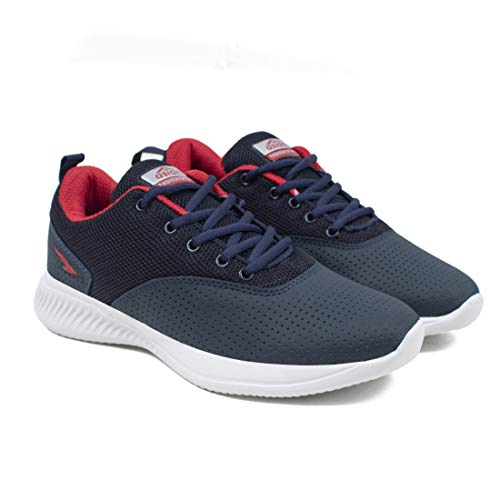ASIAN Men's Bouncer-04 Grey Sports Latest Stylish Casual Sneakers,Lace up Lightweight Shoes for Running, Walking, Gym