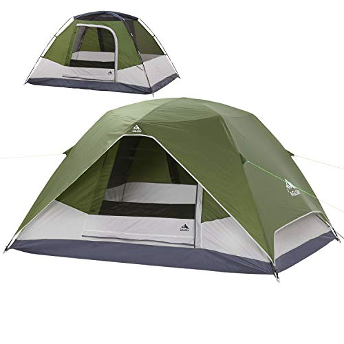 4 Person Dome Camping Tent with Rainfly, 9'X7'X55'',Waterproof Easy Up, Lightweight Family Tent for Hiking Backpacking Traveling & Outdoor