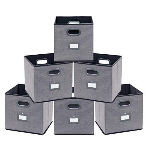 homyfort Caja de Almacenaje, Set de 4 Cajas de Juguetes Plegable de...