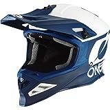 O'NEAL   Casco de Motocross   MX Enduro Motocicleta   Airflaps™ Compatible, Forro Acolchado Coolmax, Cierre de Seguridad Doble-D   Casco 8SRS 2T   Adultos   Azul   Talla S