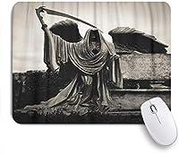 NIESIKKLAマウスパッド グリムの石の彫刻死神の死の天使 ゲーミング オフィス最適 高級感 おしゃれ 防水 耐久性が良い 滑り止めゴム底 ゲーミングなど適用 用ノートブックコンピュータマウスマット