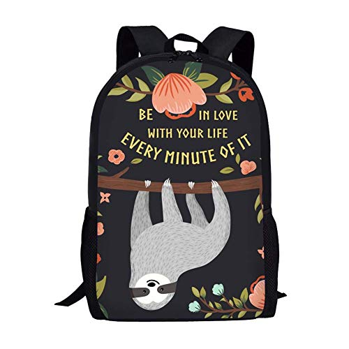 white backpack Be in Love with Every Minute of it bookbag college backpacks for women art canvas girls work boys trolls kids teen kid toddlers students teenage student office teenagers boy unisex