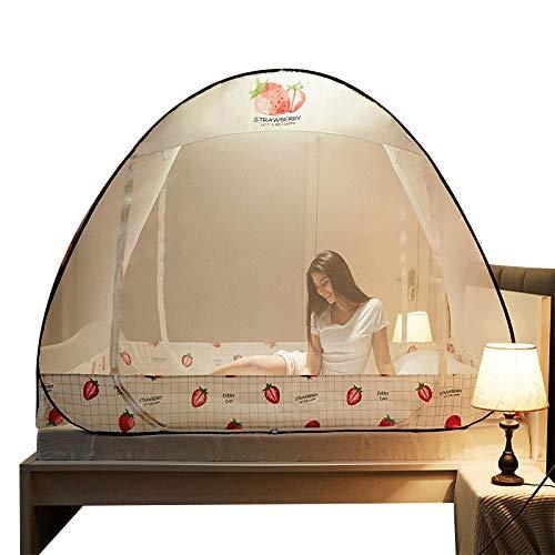 LLSTRIVE Portable de Voyage Moustiquaire,Installation Gratuite de moustiquaires, Pliage ménager@Flamingo_1.8m (6 Pieds) lit