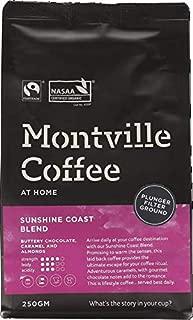 MONTVILLE COFFEE Sunshine Coast Blend Plunger Ground Coffee, 250 g