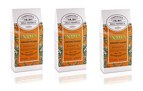 Caffè Corsini Compagnia Dell'Arabica India Monsun Malabar Gemahlener Kaffee 3 Pack x 250g, 750 g