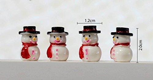 Urgrace 20 pcs/lot de style Résine Mini Bonhomme de neige figurine Dollhouse Craft Fée Décoration de jardin miniature Pot de fleurs Micro Paysage Décorations bonsaï DIY Cadeau de Noël Jouets
