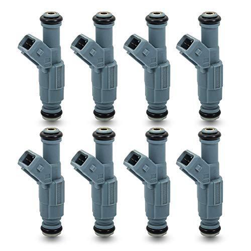 8 Pcs Replace number 0280155715 Fuel Injectors Compatible with Chevy Camaro Caprice Corvette Impala Ford F250 F350 Excursion Mustang GT PontiacLS1 LT1 5.2L 5.9L