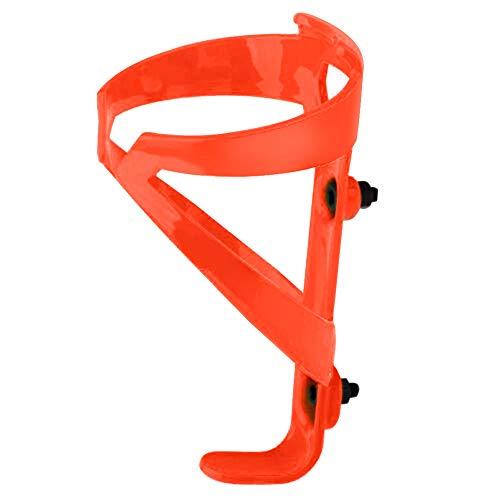 Portabottiglie per bicicletta, leggero e resistente, in fibra di nylon, portabottiglie per bicicletta, bicicletta, MTB, Wheelchai (arancione)