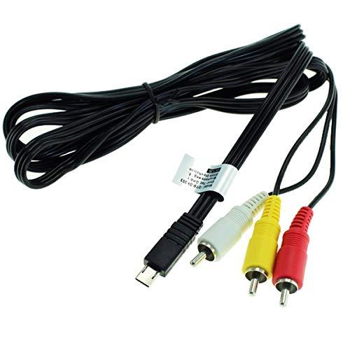 Audio Video Composite Kabel VMC-15MR2 kompatibel mit Sony HDR-PJ410 HDR-PJ620 -PJ650, HDR-PJ530, HDR-CX405 HDR-CX240, HDR-MV1, HDR-AS200V -AS20, HDR-GW55, FDR-AX53 FDR-AX33 FDR-AX100, FDR-X1000V, DSC-RX10 Videokabel Video Kabel