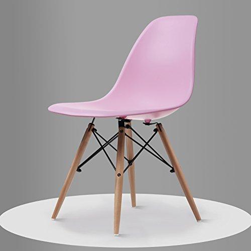 GY Chair - - Fauteuil Minimaliste Moderne, Salon, Bureau, Salle à Manger, Banquette arrière Confortable (Taille 82.5X40X40 cm) /+-+/ (Couleur : Pink)