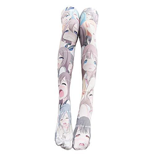 IPOTCH Damen Kniestrümpfe Anime Manga, Frauen Socken Overknee Strümpfe Strumpfhosen Cosplay