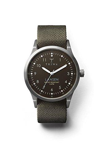 TRIWA Partisan Lansen Armbanduhr olivgrün-braun/grau LAST111_MO063212