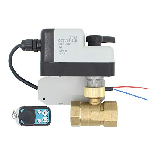 XIAOLUTIANM Válvula Remota válvula de Bola motorizadas eléctricas de 2 Hilos de Control de válvula Cerrada Normalmente Abierto Normalmente (Specification : DN32, Voltage : AC DC9 30V)