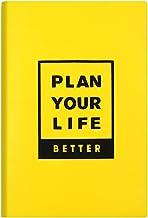 JIUYECAO Tredimensionell silikon engelsk anteckningsbok, horisontell dagbok, konferensbok, gul A5 PU-läder skrivanteckning...