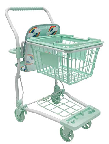 Roma Rupert Toy Shopping Trolley Suitable from 24 months - mint Roma The Rupert shopping trolley measures 62cm from the floor to the handle. Removable Shopping basket Available in primrose or mint - Unique Rainbow Design 7