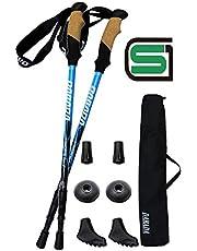 DABADA(ダバダ) SG承認品 軽量アルミ製 トレッキングポール 2本セット Amazon限定キット付 アンチショック機能付 【軽量220g コンパクト最少56.5cm】