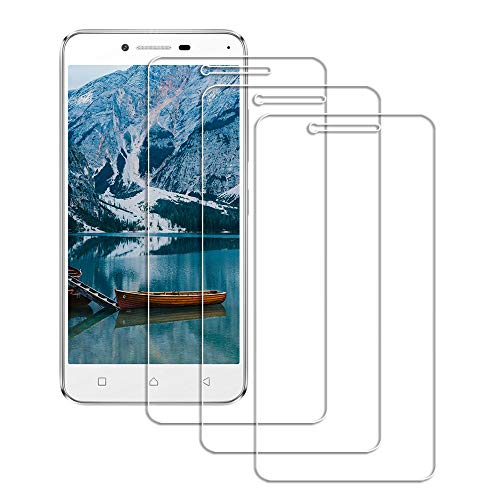 Lusee 3 Pack Screen Protector for Lenovo Vibe K5 A6020 Tempered Glass [9H Hardness] [HD Clear] [Case friendly] Anti Scratch/Anti Fingerprint 2.5D Screenprotector for Lenovo Vibe K5 A6020