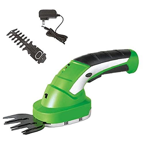 Elettrico Hedge Trimmer 2 in 1 senza fili tenuta in mano portatile Grass Cesoie addebitabile, attrezzi elettrici