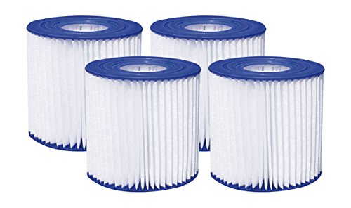 "Summer Waves 4.13"" x 3.75"" Type D Filter Cartridge (4 Pack)"