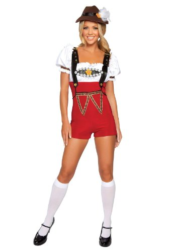 Beer Stein Babe Adult Costume Red – Medium/Large