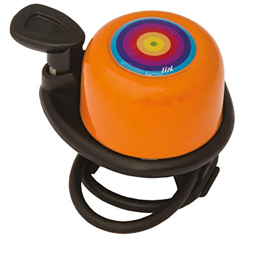 Liix Fahrradklingel Scooter Bell Rainbow Ring Orange
