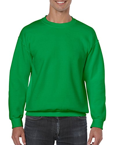 Gildan Men's Fleece Crewneck Sweatshirt, Irish Green X-Large