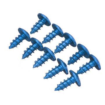 JenNiFer 10 Stück M5 Schrauben Modifiziertes Gewinde Titanlegierungsschraube Für Atvs Roller Motorräder Fahrräder - Blau