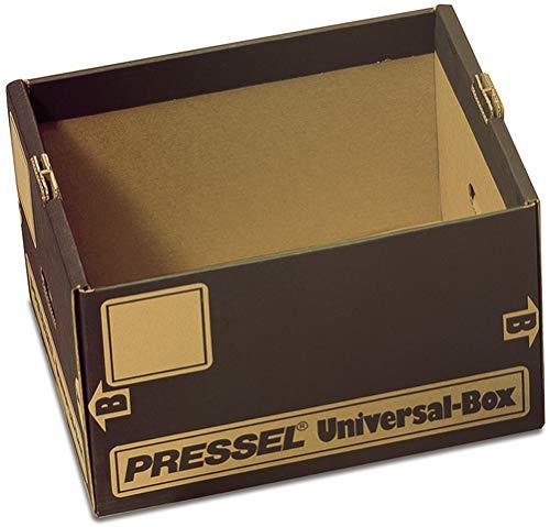 Pressel® Archivbox Universal, Wellpappe, 34 x 44 x 26,5 cm, braun (10 Stück), Sie erhalten 1 Packung á 10 Stück