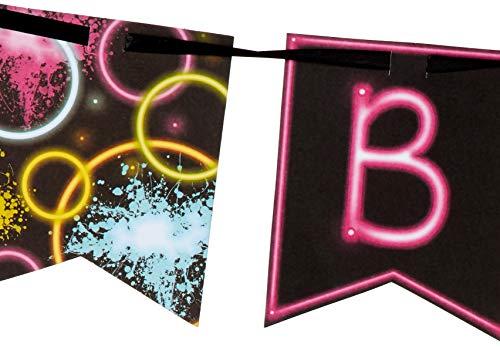 Shaped Ribbon Banner 'Happy Birthday', One Size.