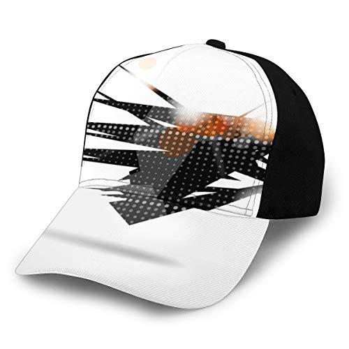 Fondo geométrico abstracto 77 Gorra deportiva con estampado de moda Gorra para correr para hombres y mujeres Gorra de béisbol Sombrero de camionero personalizado para papá