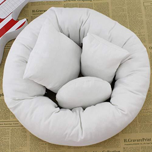 4pcs / set bebé recién nacido almohada cesta de relleno de trigo donut accesorios de fotografía