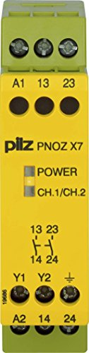 Pilz Not-Aus-Schaltgerät PNOZ X7#774053 110VAC 2n/o PNOZ X Gerät zur Überwachung von sicherheitsgerichteten Stromkreisen 4046548012361