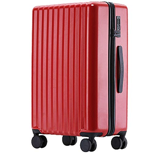 High Quality Luggage, Lightweight ABS Expandable Tough Waterproof with Spinner Wheels Suitcase for Traveling Bedroom Hotel-34x22x49cm-red