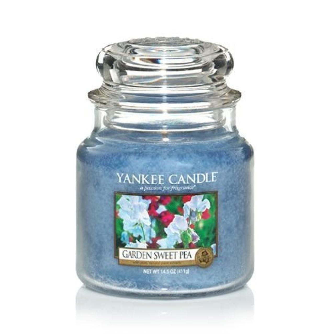 祝う従来の憂慮すべきYankee Candle 14.5 Oz Jar Candle Garden Sweet Pea by Yankee Candle [並行輸入品]