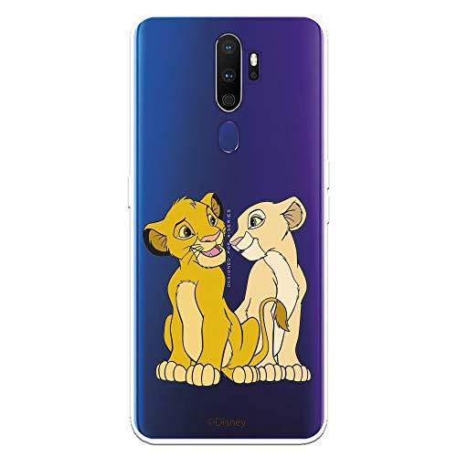 Funda para OPPO A9 2020 - A5 2020 Oficial de El Rey León Simba y Nala Silueta para Proteger tu móvil. Carcasa para OPPO de Silicona Flexible con Licencia Oficial de Disney.