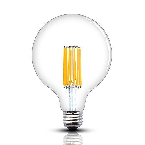 Bonlux 12W Dimmable G40 LED Edison Filament Bulb G125 Antique Globe Shape Long Filament Style Medium E26 Base Warm White 2700K 120W Incandescent Replacement Bulb for Pendant Chandelier Lantern Light