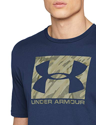 Under Armour Boxed Sport Style Short-Sleeve Shirt - Academy/Rifle Green, Medium
