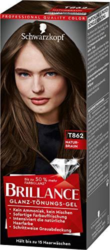 Brillance Glanz-Tönungsgel, Haarfarbe T862 Naturbraun Stufe 1, 3er Pack(3 x 60 ml)