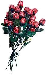 One Dozen Chocolate Red Roses - Solid Premium 9 1/2