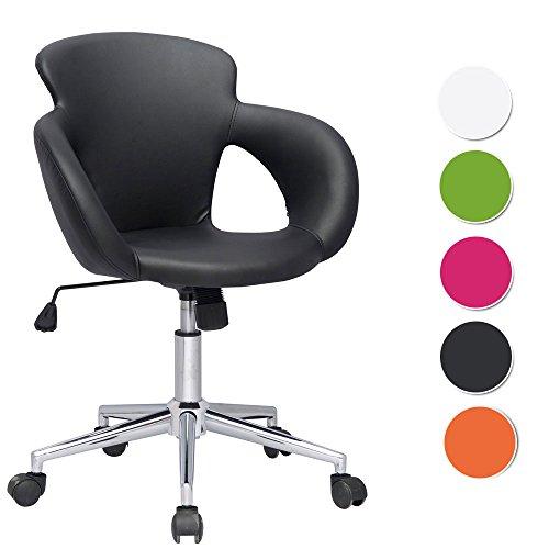 SixBros. Bürostuhl Schreibtischstuhl Drehstuhl Schwarz M-65335-1/724
