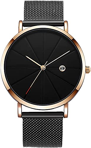 ZFAYFMA Relojes para Hombres, Relojes para Hombres y Mujeres, Universal Ultrafino Simple Simple Sports Sports Chronograph Impermeable Analog Quartz Fashion Watch Gift Barato Rose Gold