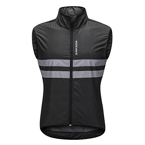 Lixada sans Manches Cyclisme Gilet Jersey Respirant VTT équitation Haut Veste de Sport pour Hommes et Femmes (Noir Blanc-2, XXL)