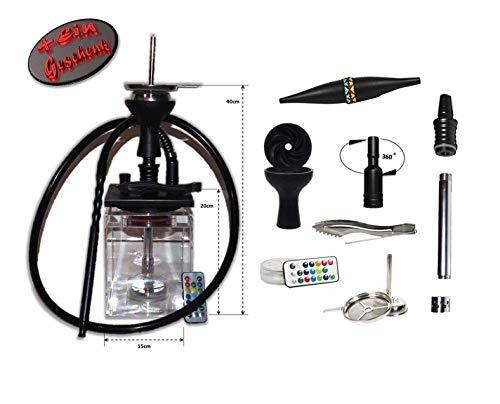 MTi products® | Shisha | Shisha Set | Wasserpfeife | Hookah 40cm | aus Acryl | Ice Bazooka Ausverkauft | (Schwarz)