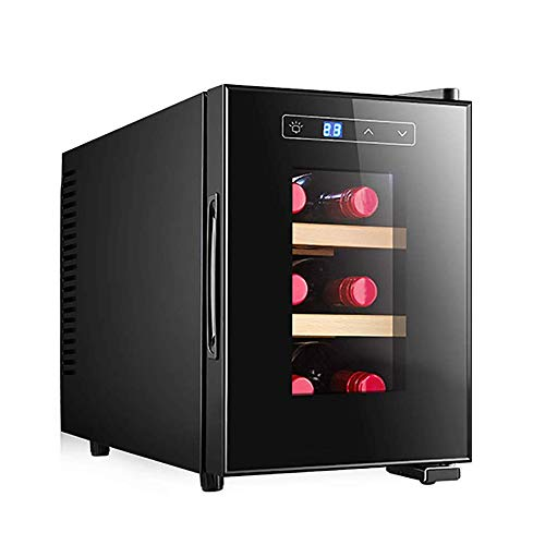 Wine Cooler, Built-in or Freestanding Wine Refrigerator like Champagne and Wine, Single Zone Temperature Memory Function with LED Light and Handle