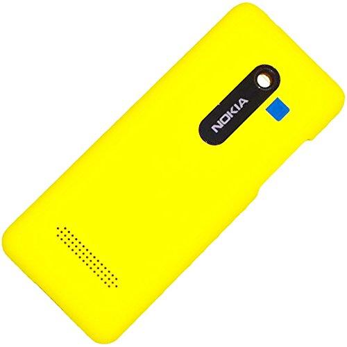 Nokia Asha 206 Dual SIM - Copribatteria originale, colore: Giallo
