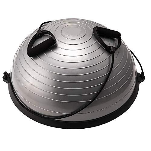 CLQ Yoga Balance Ball Trainer 58cm con Bandas de Resistencia Half Yoga Balance Ball para Yoga Fitness Entrenamiento de Fuerza Pilates Ejercicio de Pelota