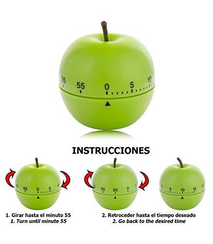 ORYX 5185000 Minutero Cocina Manzana Verde 60 Minutos