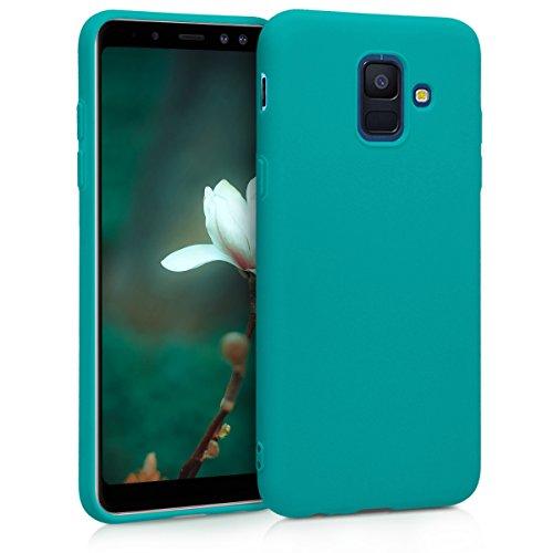 kwmobile Coque Compatible avec Samsung Galaxy A6 (2018) - Housse Protectrice pour Téléphone en Silicone pétrole Mat